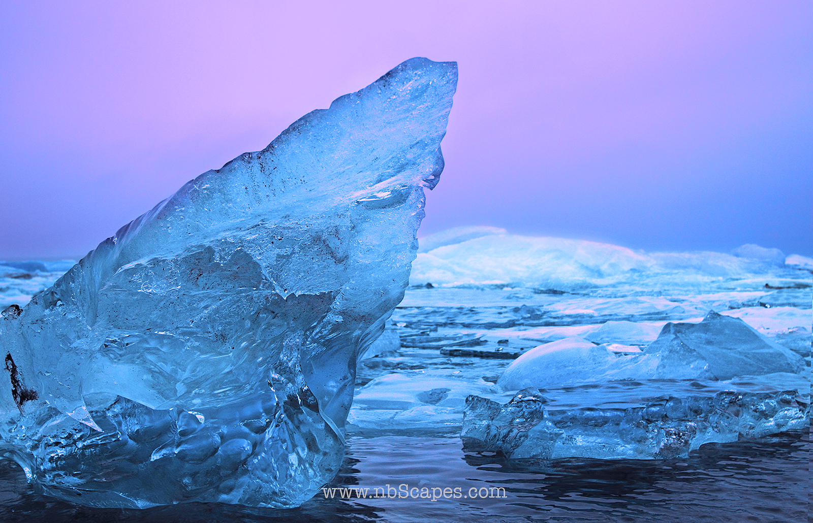 Iceland Iceberg at Sunrise