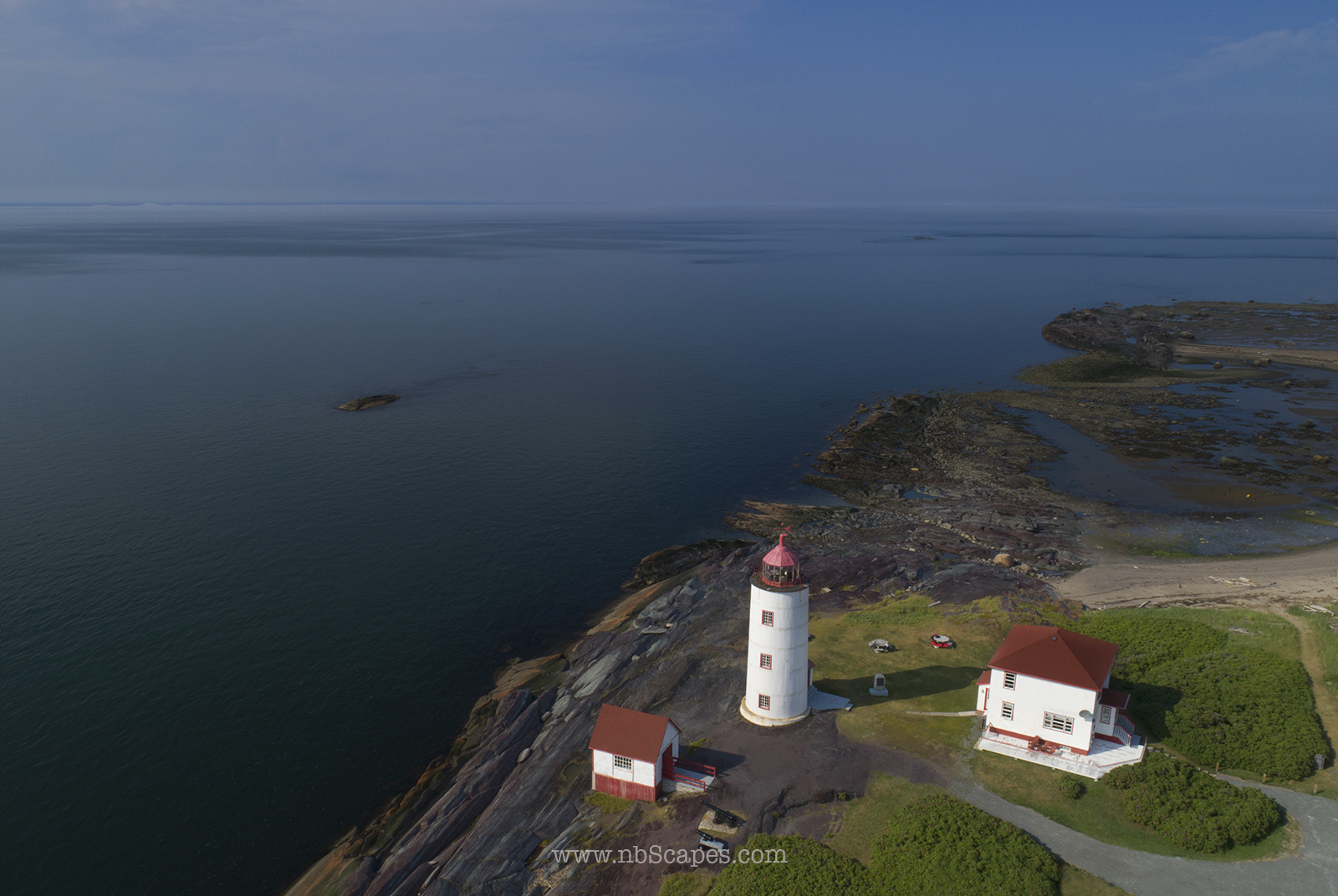 Ile Verte Light House Aerial View