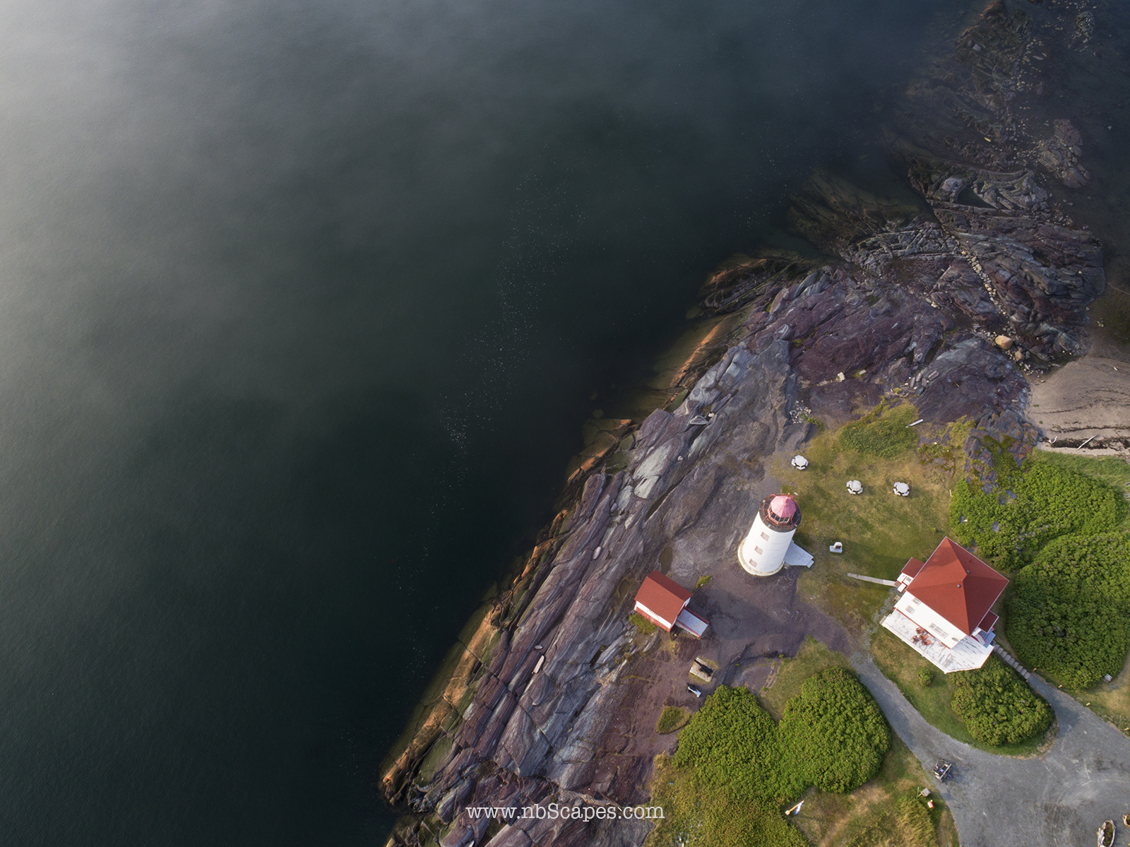 Ile Verte Light House Aerial View