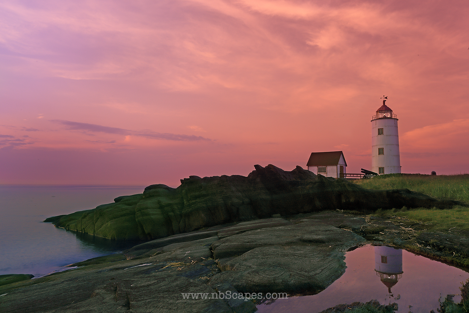 Ile Verte LightHouse Evening Scape