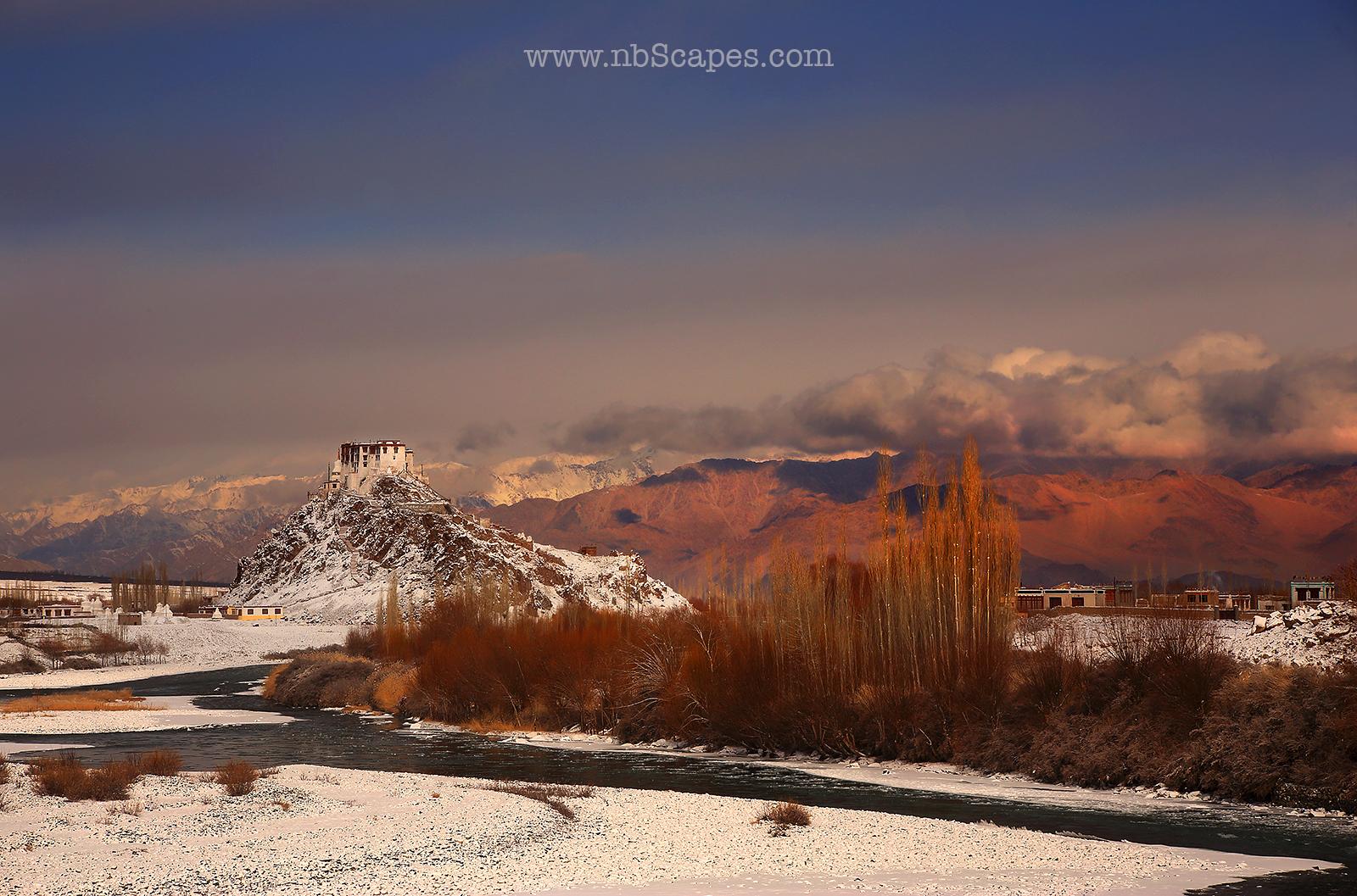 Stakna Monastery in Winter