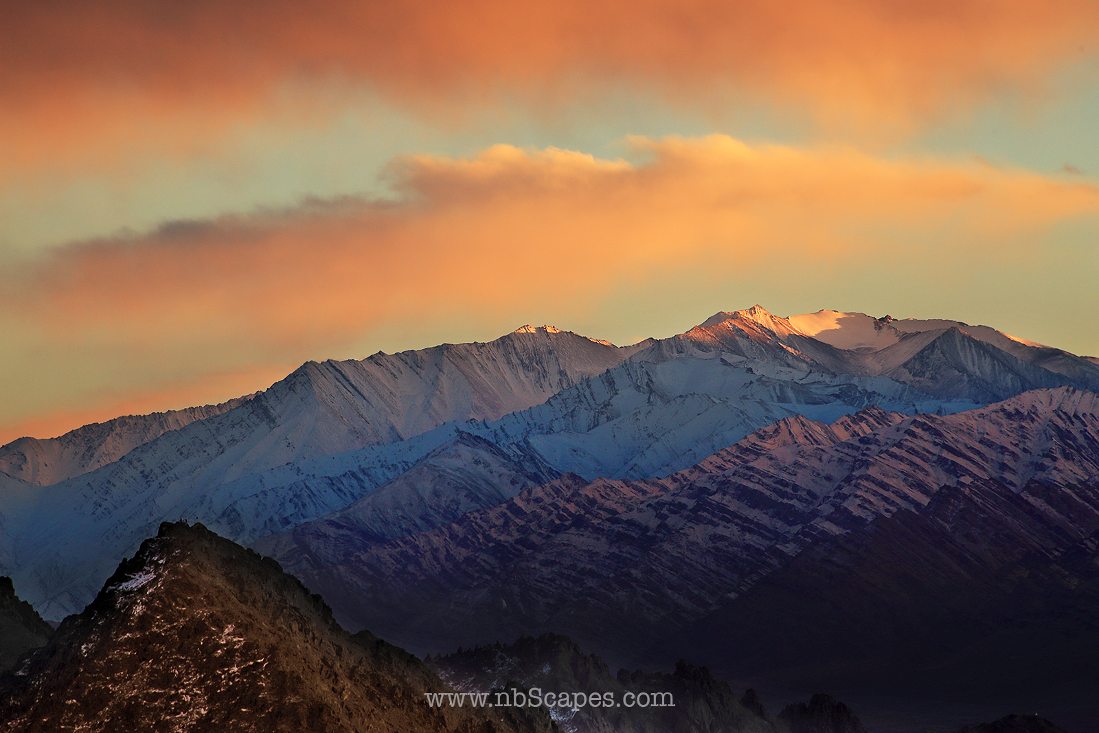 Last Light on the Himalaya