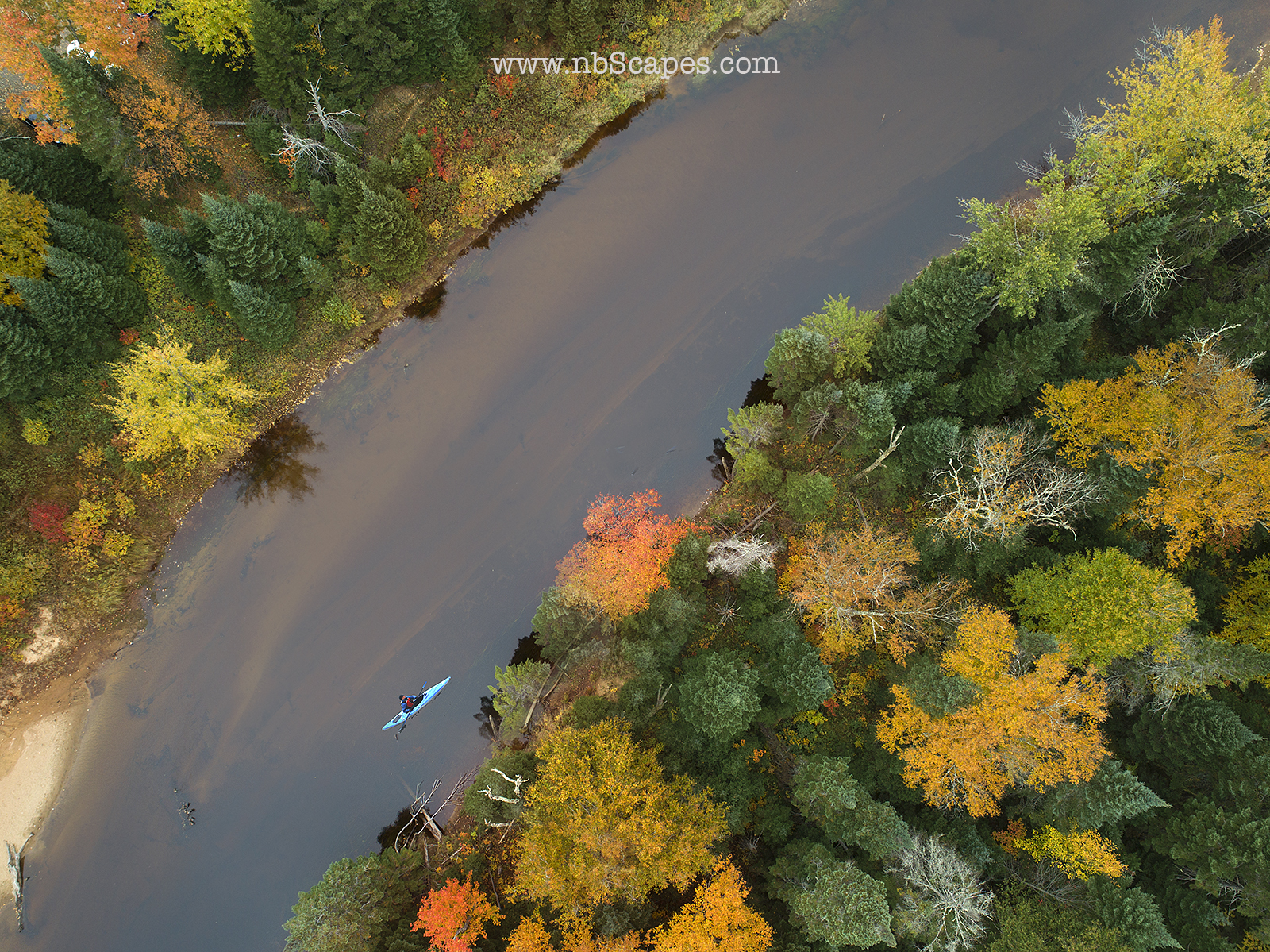 Quebec Aerial View Canoe